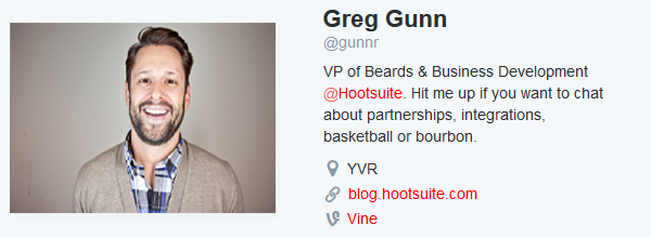 Make a twitter bio